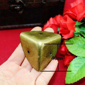 Antique Style Metal Box Corner Iron Protection Case Edge Guard Corner Cover,Wooden Box Corners,Bronze Tone,40mm,1Pc