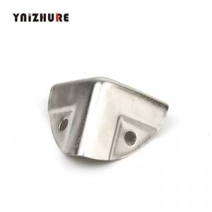 Antique 26*26*26mm,4Pcs Antique Style Metal Box Corner Iron Protection Case Edge Guard Corner Cover,Chrome Color