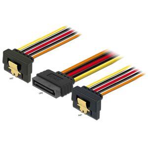 DeLOCK Sata Splitter Kabel - 15-Pin Hun Til 2 X 15-Pin Han - 30 Cm