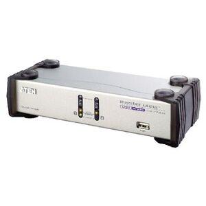Aten NEDIS, 2-Port KVM Switch Sølv