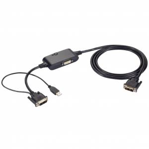 BLACK BOX DKM FX DVI-D SPLITTER CABLE - USB POWER