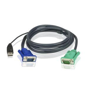 Aten KVM-kaapeli, SPHD15 U > HD15 U & USB A-tyyppi U, 3m