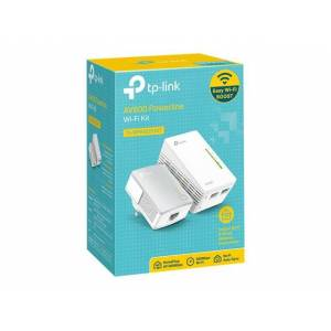 AV600 Powerline Wi-Fi KIT Qualcomm 300Mbps at 2.4GHz 600Mbps Powerline HomePlug AV 2 10/100Mbps Ports Wi-Fi Clone Twin Pack