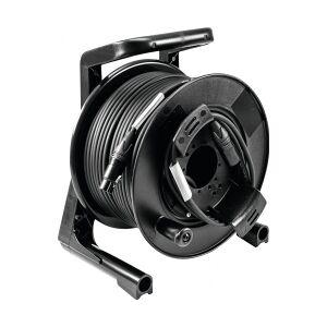 PSSO DMX cable drum XLR 50m bk Neutrik 2x0.22 løftdenløsem kabeltrommel trommel