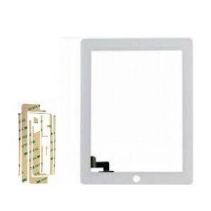 Apple iPad 2 frontglas m. touch digitizer, Hvid digitaliserer frontglasset hvit