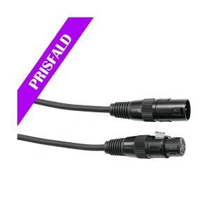 EuroLite DMX cable XLR 5pin 15m bk TILBUD NU kabel