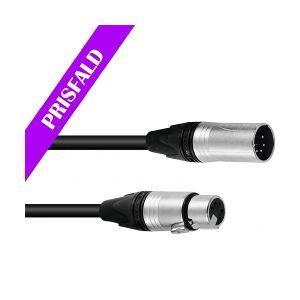 PSSO DMX cable XLR 5pin 15m bk Neutrik TILBUD løftdenløsem kabel løft løse den