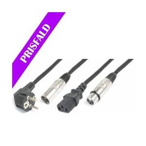 Light Combi Cable Schuko - XLR M / IEC F - XLR F 20m TILBUD NU