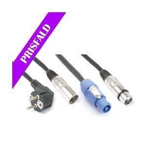 Light Combi Cable Schuko - XLR M / Powerconnector A - XLR F 20m TILBUD NU