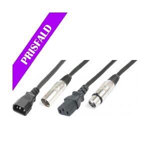 Light Combi Cable IEC M - XLR M / IEC F - XLR F 10m TILBUD NU