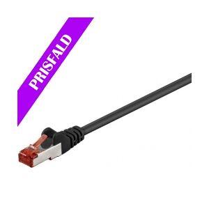 GOOBAY S/FTP netværkskabel CAT6 PIMF halogenfri, Sort (30 nettverkskabel halogen