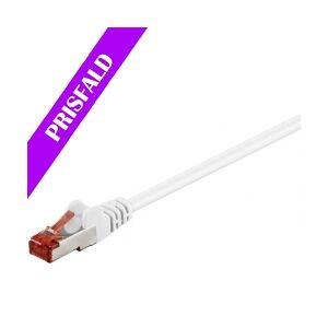 GOOBAY S/FTP netværkskabel CAT6 PIMF halogenfri, Hvid (30 nettverkskabel halogen