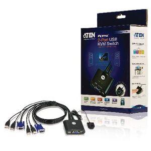 Aten NEDIS, 2-Port KVM Switch Sort