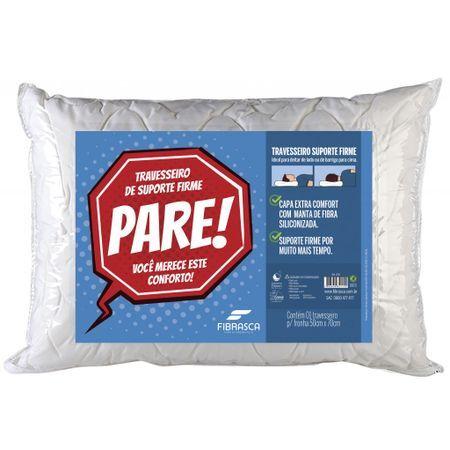 Fibrasca Travesseiro Fibrasca Poliuretano de Dormir Pare Suporte Firme Terapêutico 4115