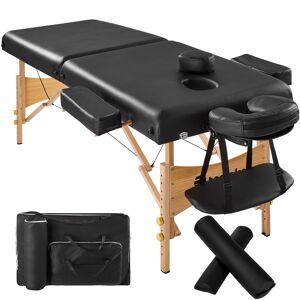 tectake Massagebriks med 2 zoner, 7,5cm polstring + ruller + polstring - sort