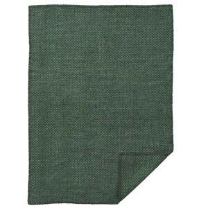 Klippan Yllefabrik - Domino Baby Ullpledd 65x90 cm, Grønn