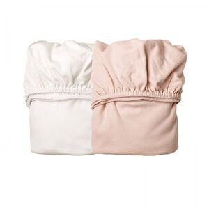 Leander, Laken til Leander vugge, 2pk soft pink/hvit