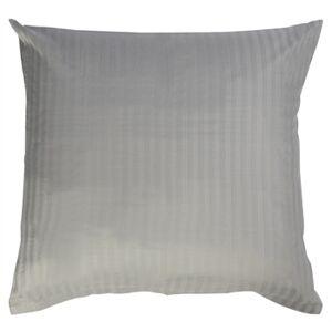 Borg Design Putetrekk - 100% Bomullssateng - Stripet grå - 60x63 cm
