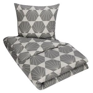 Borg Design King size sengetøy - 100% bomull - Diamond grey - 240x220 cm