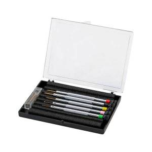 Beco Case with 5 Screwdrivers, 0.5 - 1.2 mm, with Anti-Magnetic Blades and Spare Blades 212451