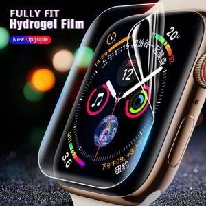 Apple Hydrogel Film For Apple Watch 5 44mm 40mm Soft Full Screen Protector SOFT Film curved cover For iwatch 5 4 3 2 1 42mm 38mm