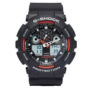 CASIO G-Shock GA-100 - Klokke - Svart/Rød