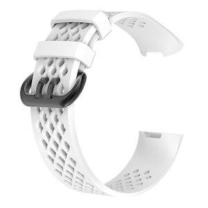 eStore Armbånd kompatibelt med Fitbit charge 3 Hvit