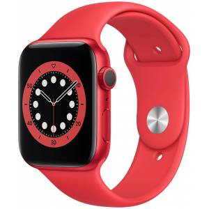 Apple Watch Series 6 GPS aluminiumboett i röd 44 mm röd sportband M00M3KS/A