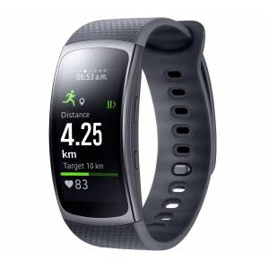 Samsung - Gear Fit 2 sports watch Level Active Headset (black)
