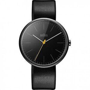 Braun Quartz herrklocka med svart urtavla analog Display och svart ...