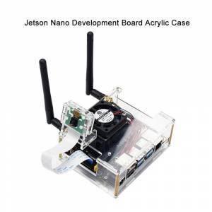 NVIDIA Jetson Nano Developer kit Clear Acrylic Case for Jetson Nano with Cooling Fan