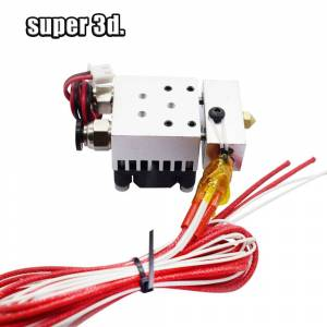 Hot End 2 In 1 Out J-head Hotend Kit Double Color Extruder Single Head 12V/24V 0.4mm 1.75mm with Cooling Fan 3D Printer parts