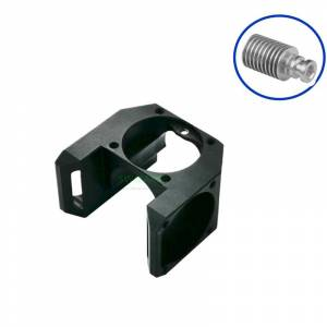 New V6 All Metal Fan Duct for Aluminium V6 circular heat sink, Can Assemble 3pcs 3010 Cooling Fans, Black / Silver
