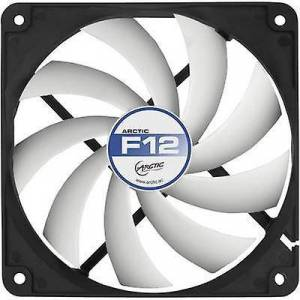 Arctic F12 PC fan svart, hvit (B x H x D) 120 x 120 x 25 mm