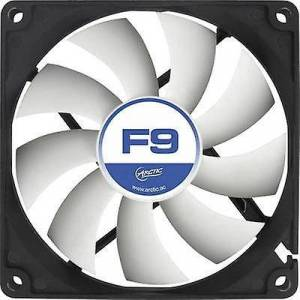 Arctic F9 PC fan svart, hvit (B x H x D) 92 x 92 x 25 mm