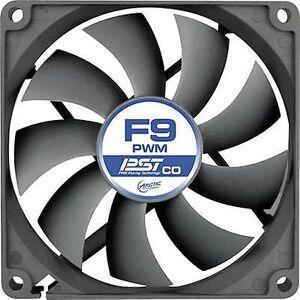 Arctic F9 PWM PST CO PC fan svart (B x H x D) 92 x 92 x 25 mm