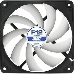 Arctic F12 PWM PST PC fan svart, hvit (B x H x D) 120 x 120 x 25 mm