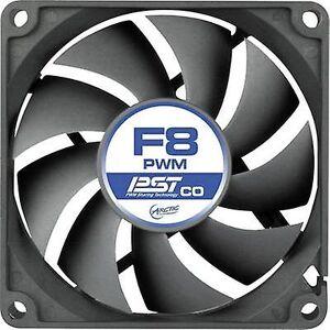 Arctic F8 PWM PST CO PC fan svart (B x H x D) 80 x 80 x 25 mm