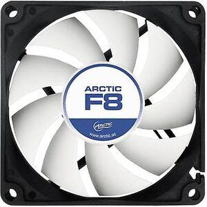 Arctic F8 PC fan svart, hvit (B x H x D) 80 x 80 x 25 mm