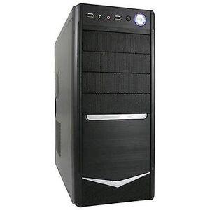 LC-Power MIDI Tower PC casing LC strøm ATX 7024B inkl. LC420H-12 V svart