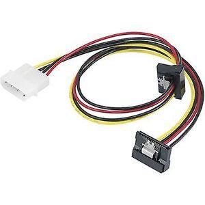 Renkforce gjeldende Y kortet [1 x IDE makt plugg 4-pinners - 2 x SATA-strømkontakten] 0,46 m svart, rød, gul