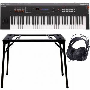 Yamaha Mx61 Ii Black Music Synthesizer + Stativ (Dps-10) & Hörlurar