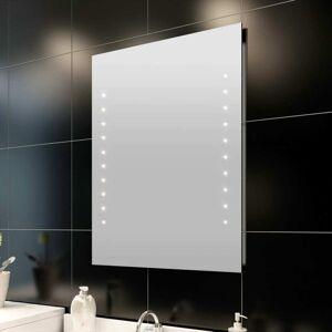 vidaXL Bad speil med LED-lyser (60 x 80 cm)