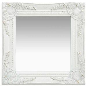 vidaXL Veggspeil barokkstil 40x40 cm hvit
