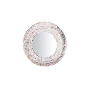 Beliani Spegel rund 75 cm vit/koppar KOLLAM