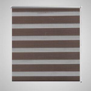 vidaXL Zebra Gardiner 50 x 100 cm Kaffe Farge
