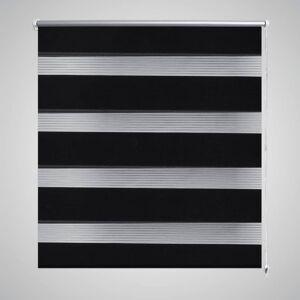 vidaXL Zebra Gardiner 70 x 120 cm Svart