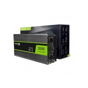 Green Cell Inverter til bil 12V til 220V, 3000W/6000W Modificeret...