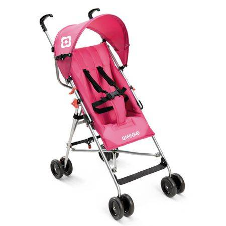 Multilaser Carrinho de bebê guarda-chuva Weego Way Rosa BB508