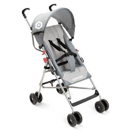 Multilaser Carrinho de Bebê Guarda-Chuva Weego Way Cinza - BB509 BB509